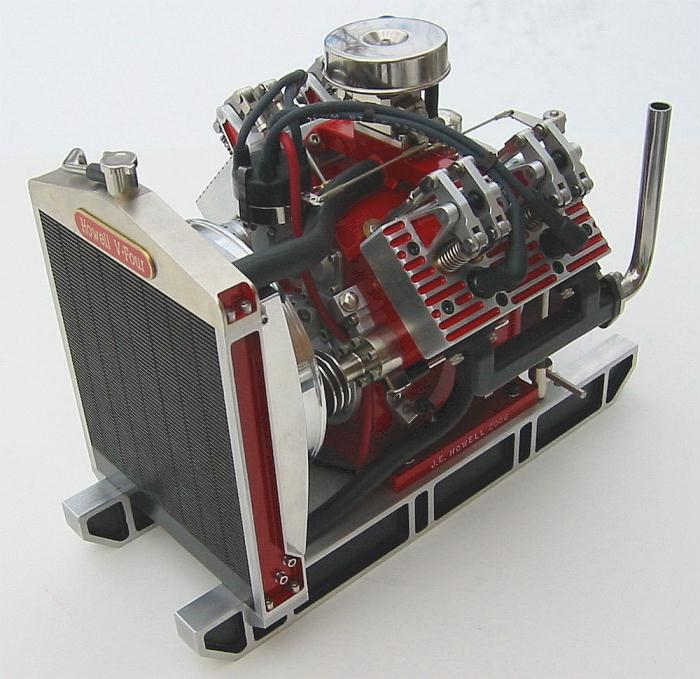 Howell V Four 4 Cycle Gas Engine