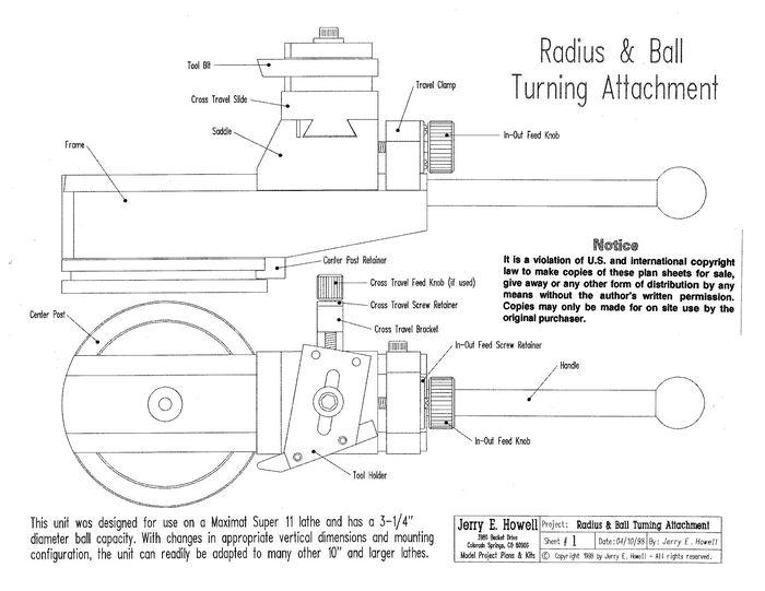 Metal LatheBall & Radius Turning Attachment